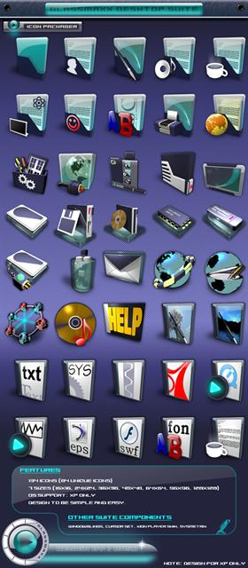 GlassMaxX XP Icon Pack