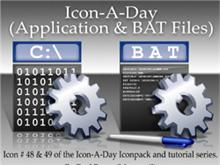 Icon-A-Day #48 & #49 (BAT & Application Files)