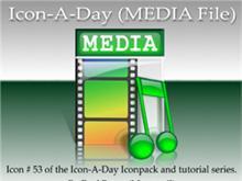 Icon-A-Day #53 (MEDIA File)