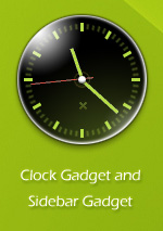 Slow Burn Clock Sidebar Gadget
