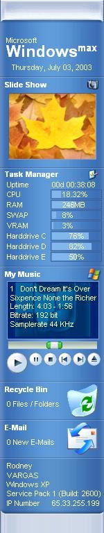 Windows Max Sidebar Secod Edition