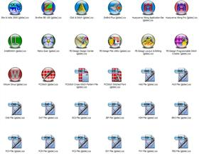 Embroidery-Stitch Apps Icons (Globe)