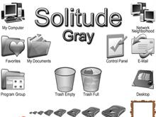 Solitude - Gray 9x