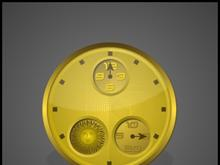 GOLD MOONPHASE CLOCK