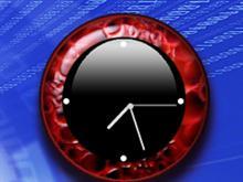 Red Grunge Clock