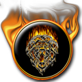 Tribal Flame Lion