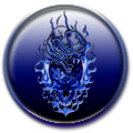 Dragon Skull Blue