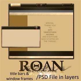 Roan WB Title Bars and WIndow Frames
