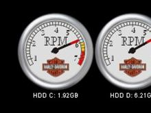 ADS DX Harley Specjal Edition HDD meter