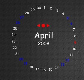 Circle Text Calendar