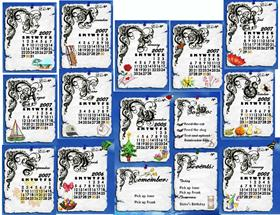 Calligraphy Calendar II