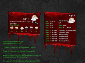 Bloodware Weather Widget