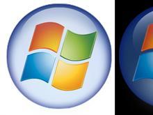 see-through Vista start icon