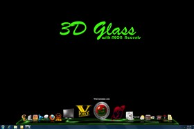 3D Glass w/Neon Accents