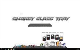Smokey Glass Tray
