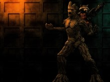 Rocket and Groot_wallpak
