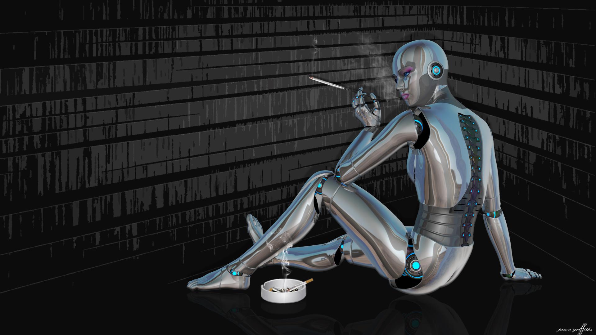 Секс девушка робот 14 фотография