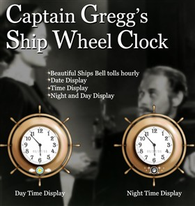 Captain Greggs Ship Wheel Clock
