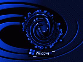 XP SP3 Black and Blue Twirl v3.0!