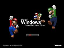 Windows XP Super Mario Bros Edition