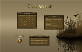 Outlander Rainlendar
