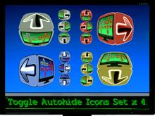 ToggleAutohide Icons Set x4