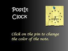 PostIt clock