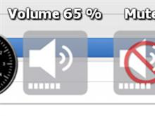OSX-icons for Master Volume Docklet