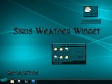 Sirus Weather Widget
