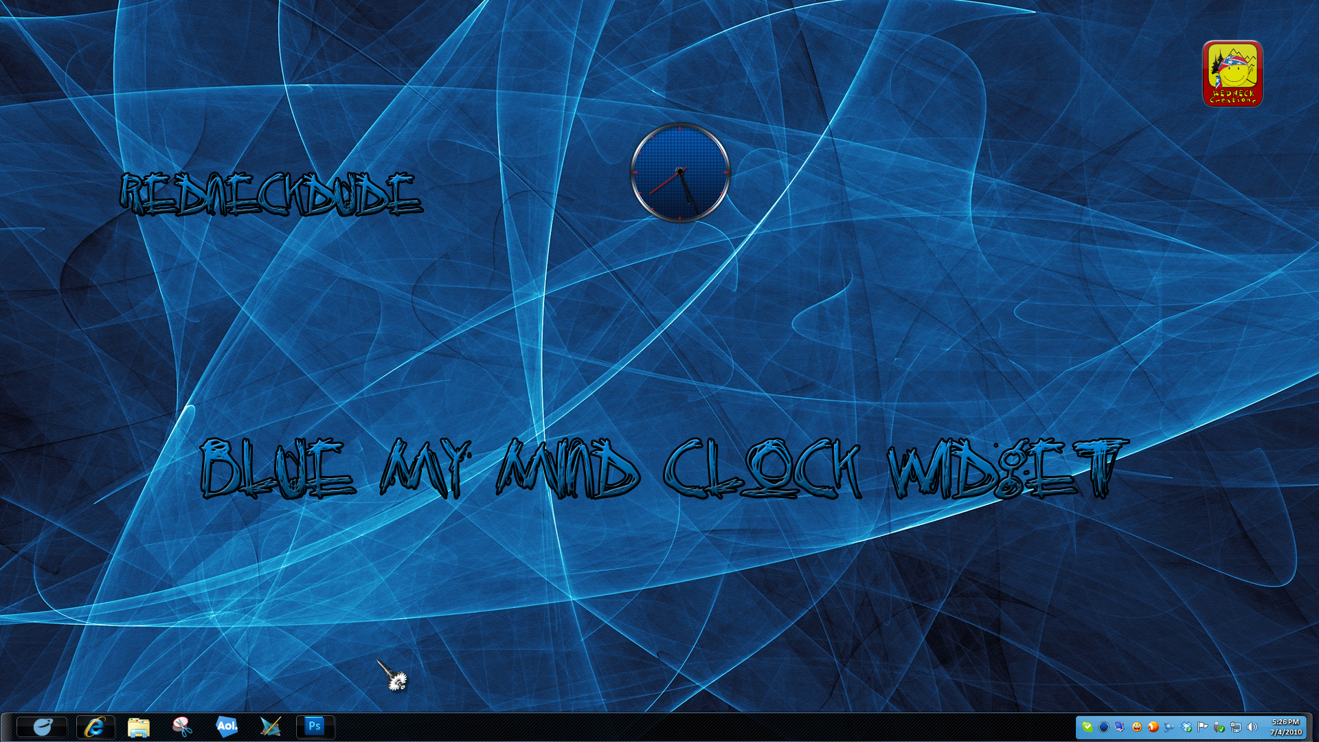 Blue My Mind Clock Widget