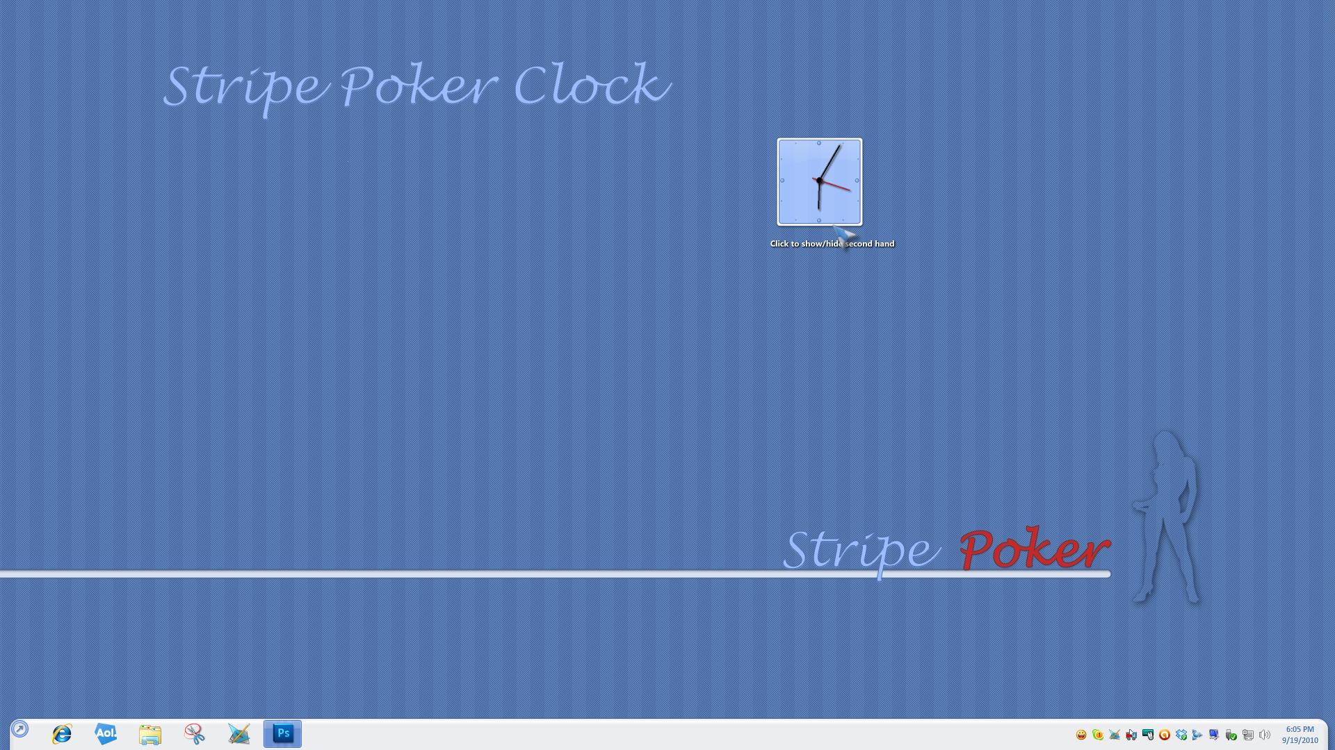 Stripe Poker Clock Widget