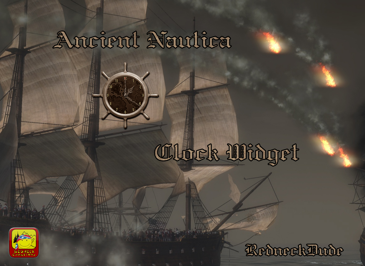 Ancient Nautica Clock Widget