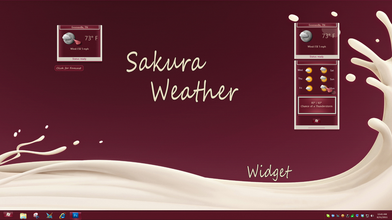 Sakura Weather Widget