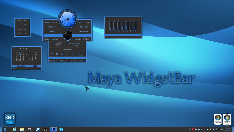 Maya WidgetBar