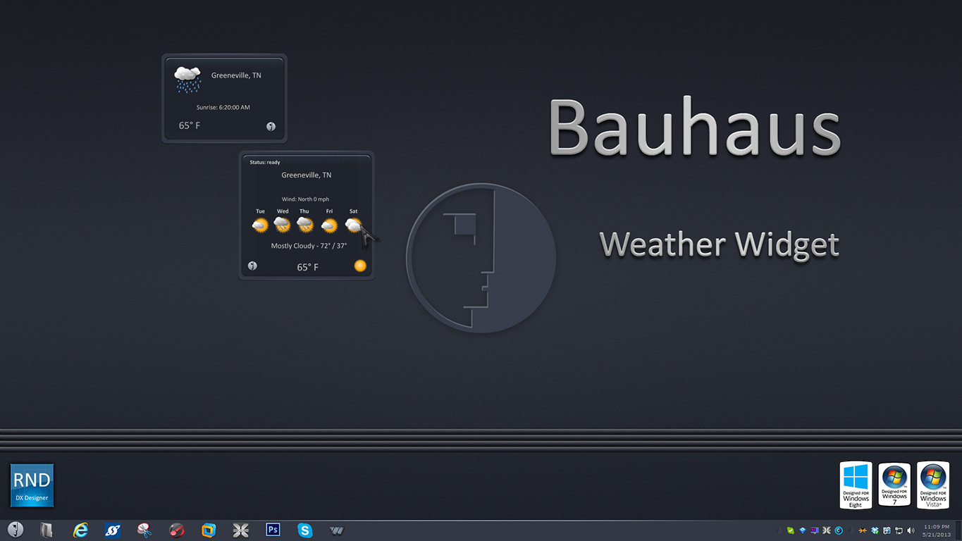 Bauhaus Weather Widget