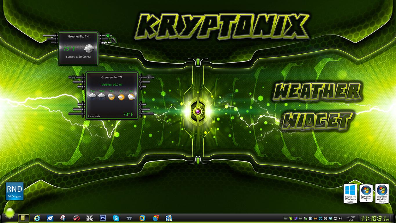 Kryptonix Weather Widget