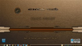 Metall Tech Clock Widget