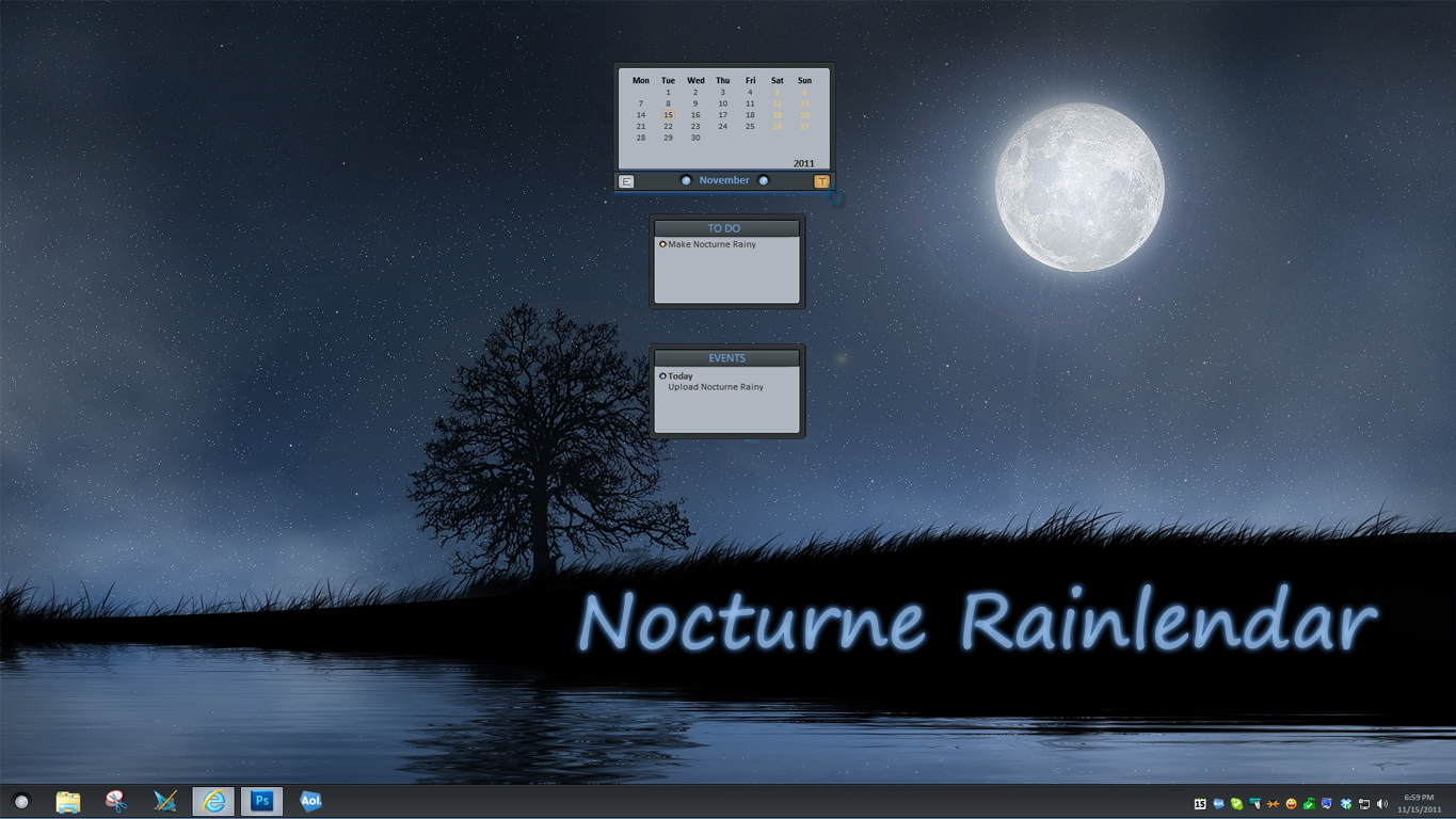 Nocturne Rainlendar