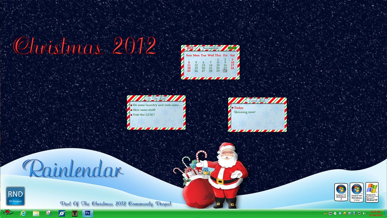 Christmas 2012 Rainlendar