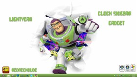 Lightyear Clock Sidebar Gadget