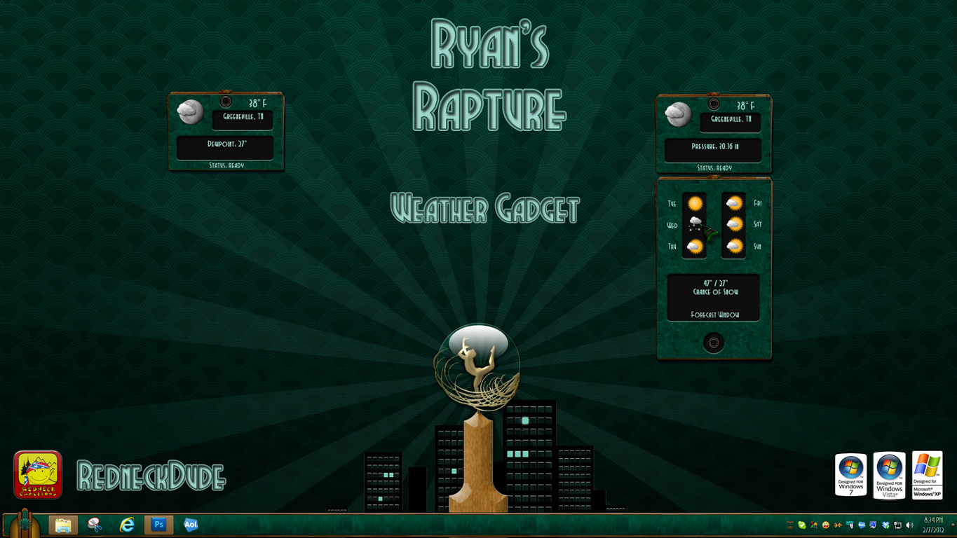 Ryan's Rapture Weather Gadget