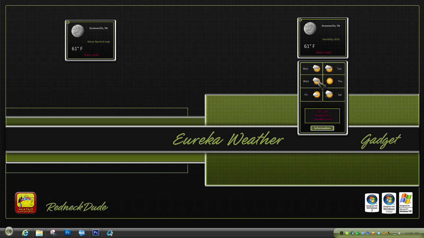 Eureka Weather Gadget