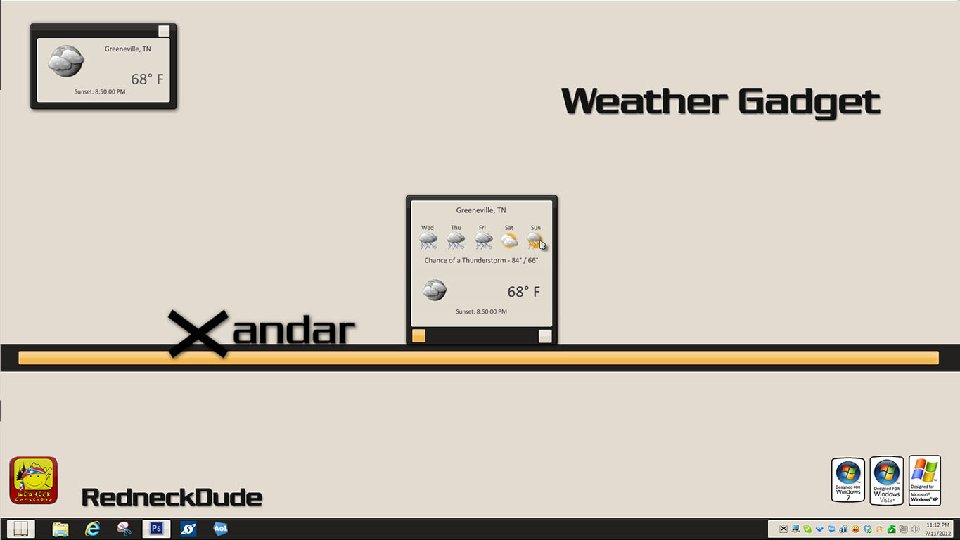 Xandar Weather Gadget