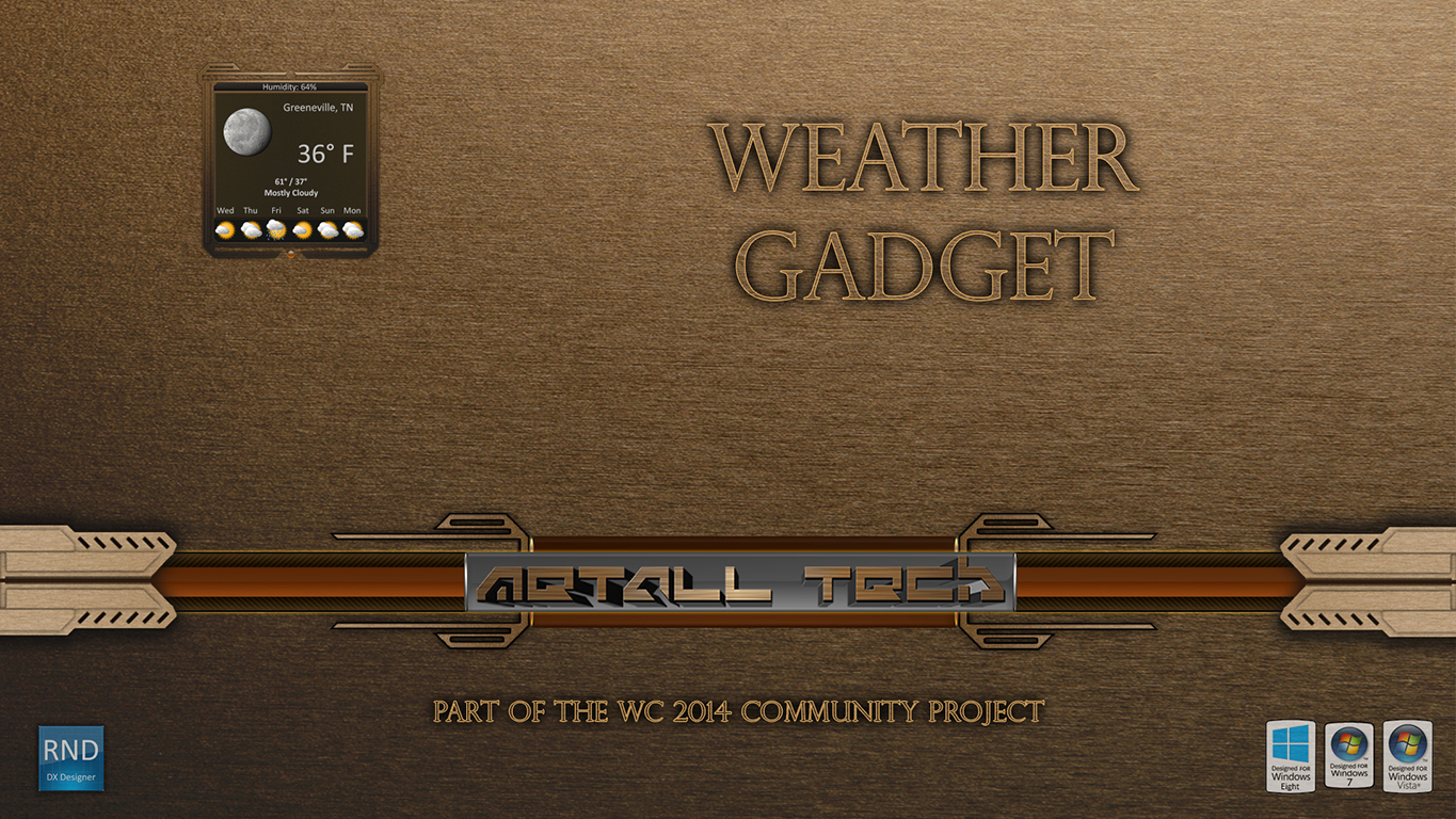 Metall Tech Weather Gadget