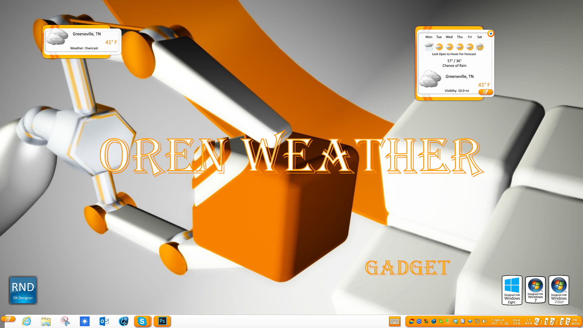 Oren Weather Gadget