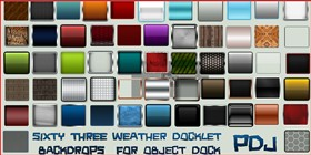 63 Weather Docklet Backdrops