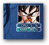 DBZ Goku CPU&RAM monitor