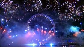 HD Fireworks Scene