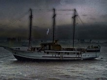 Ship in a Storm HDR