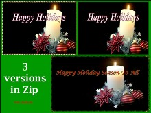 Happy Holiday Logon 3pk